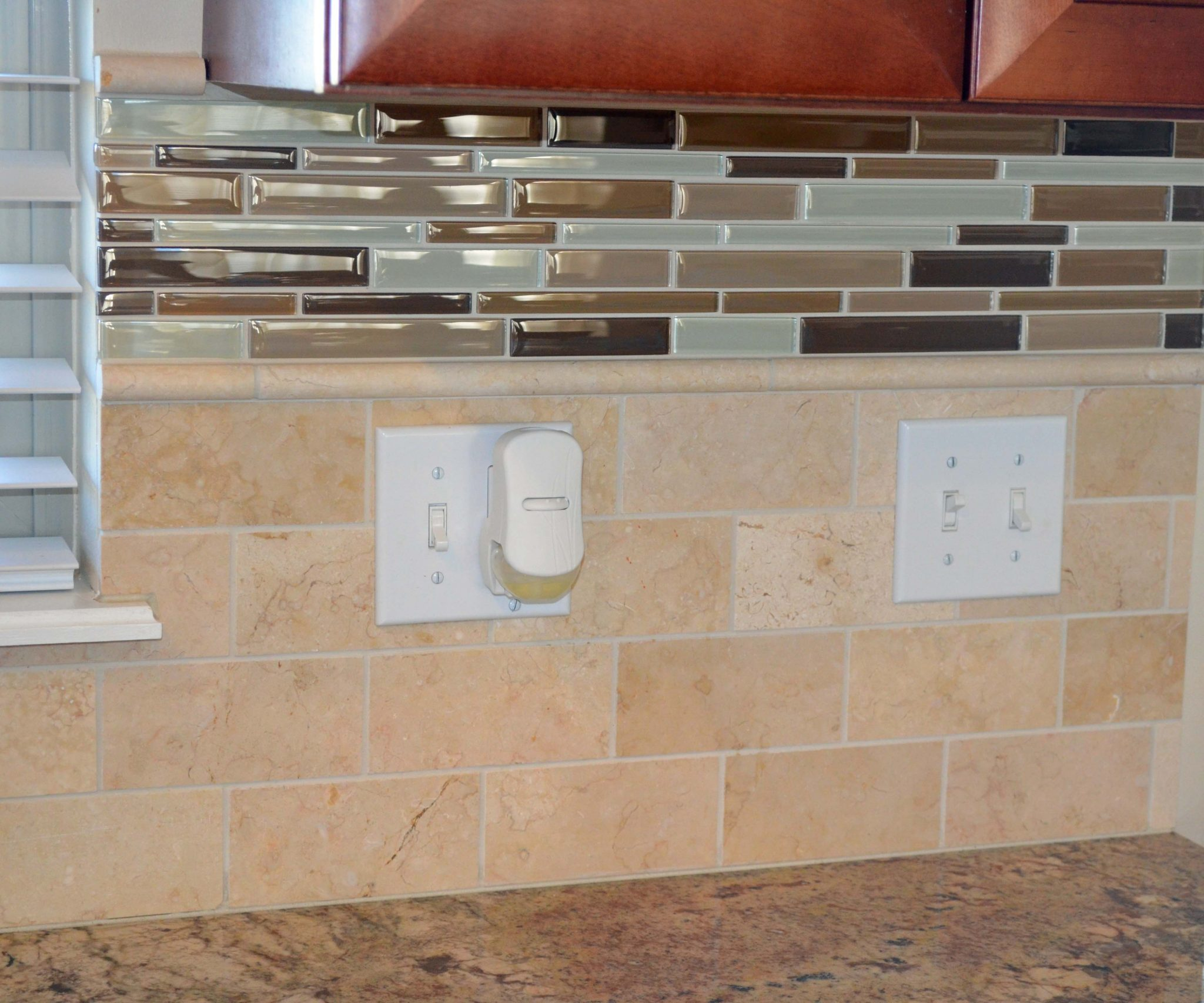 Sealing mosaic tile backsplash