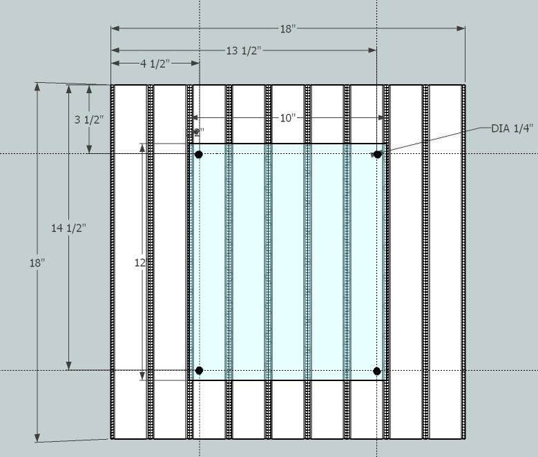 simple beadboard frame dim