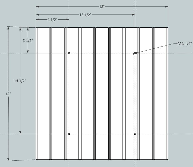 simple beadboard frame