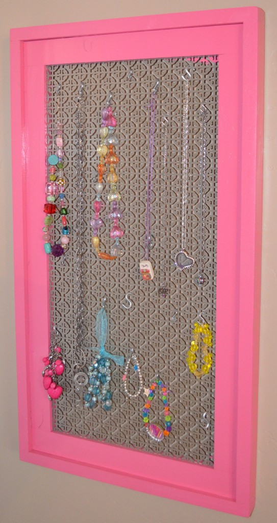 A simple diy frame to make a jewelry display board build a simple stacked wood frame to make a cool jewelry display frame solutioingenieria Images