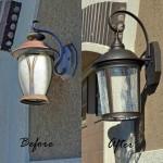 Replace an outdoor light fixture