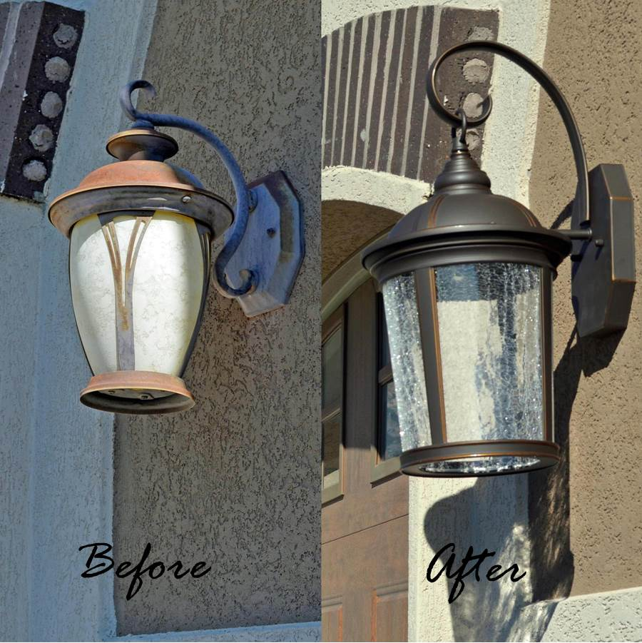 replacing an old outdated light fixture can really give new light to a