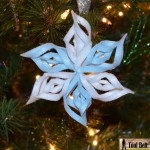8th Day of Christmas – 3-D Felt Snowflake Ornament
