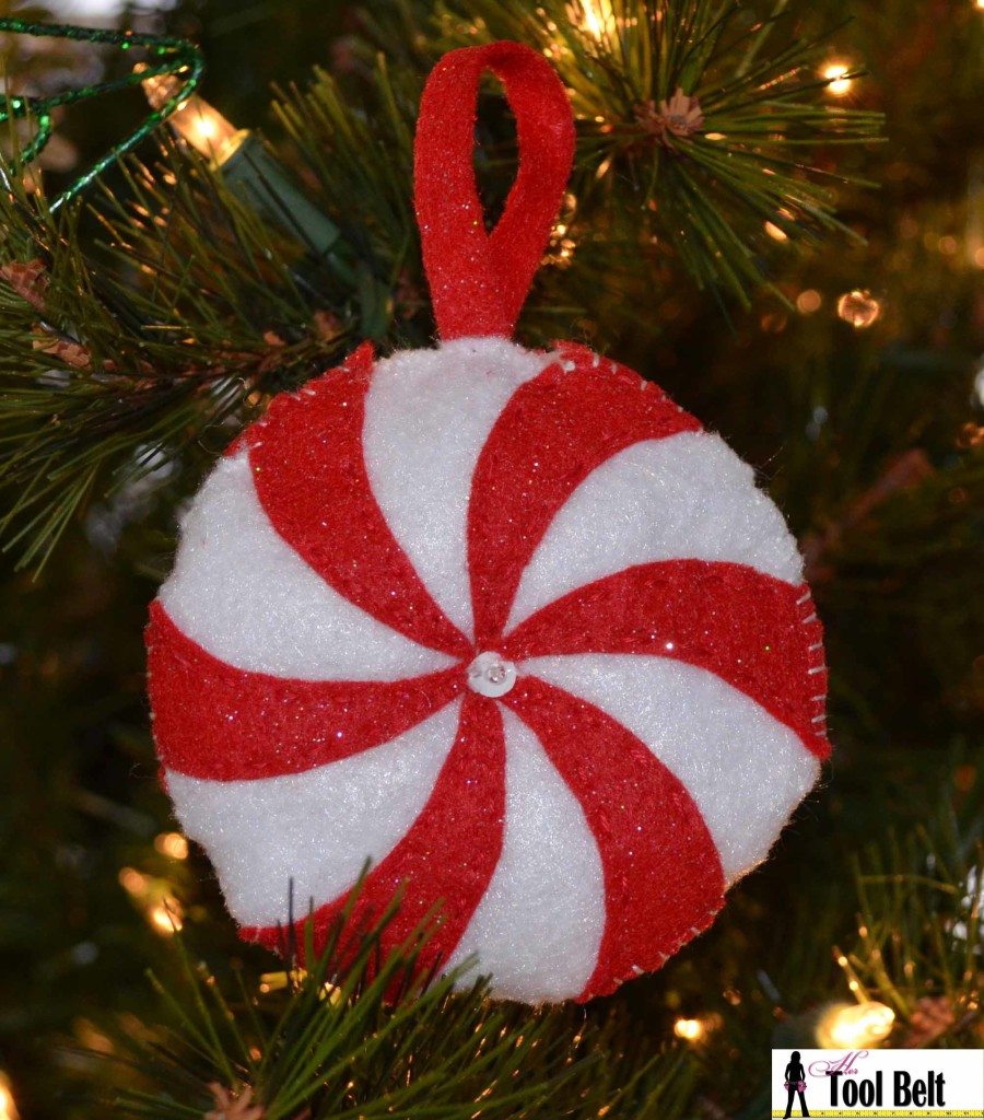 peppermint candy ornament merry christmas