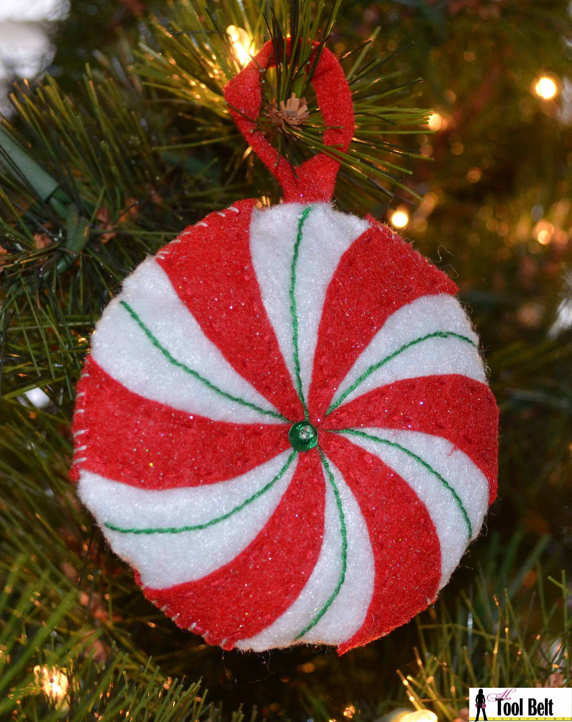 4th day of christmas peppermint candy ornament her tool belt - Candy Ornaments For Christmas Tree