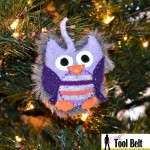 2nd Day of Christmas – Recycled Sweater Owl Ornament