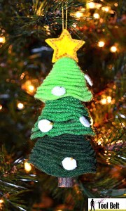 Stacked felt Christmas tree ornament
