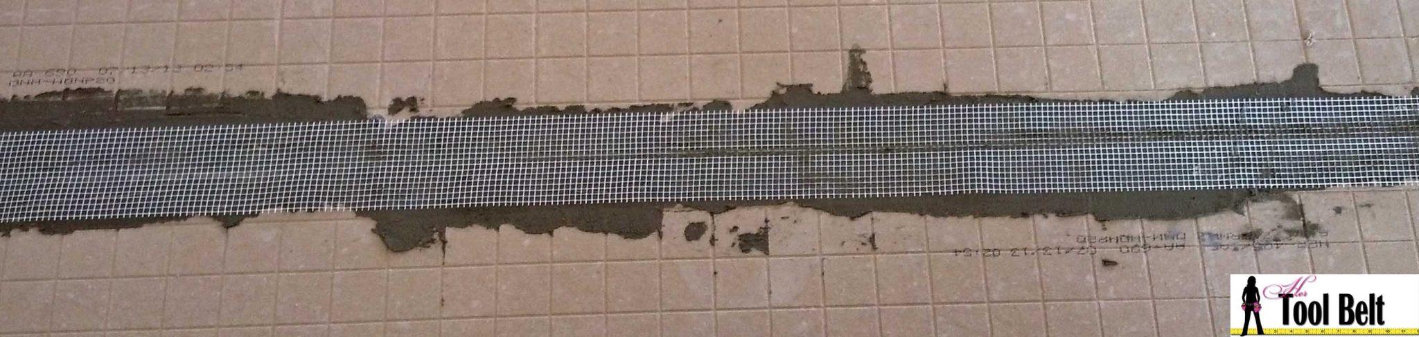 Travertine Versailles Pattern Tile Tutorial - Her Tool Belt