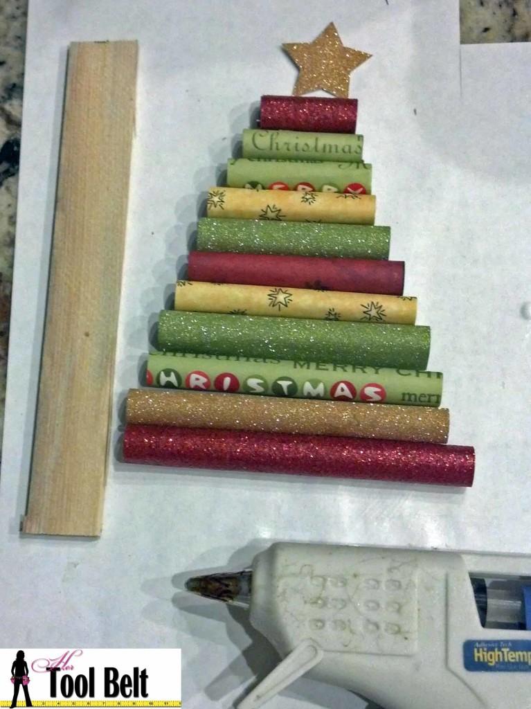 hot glue rolls to stick