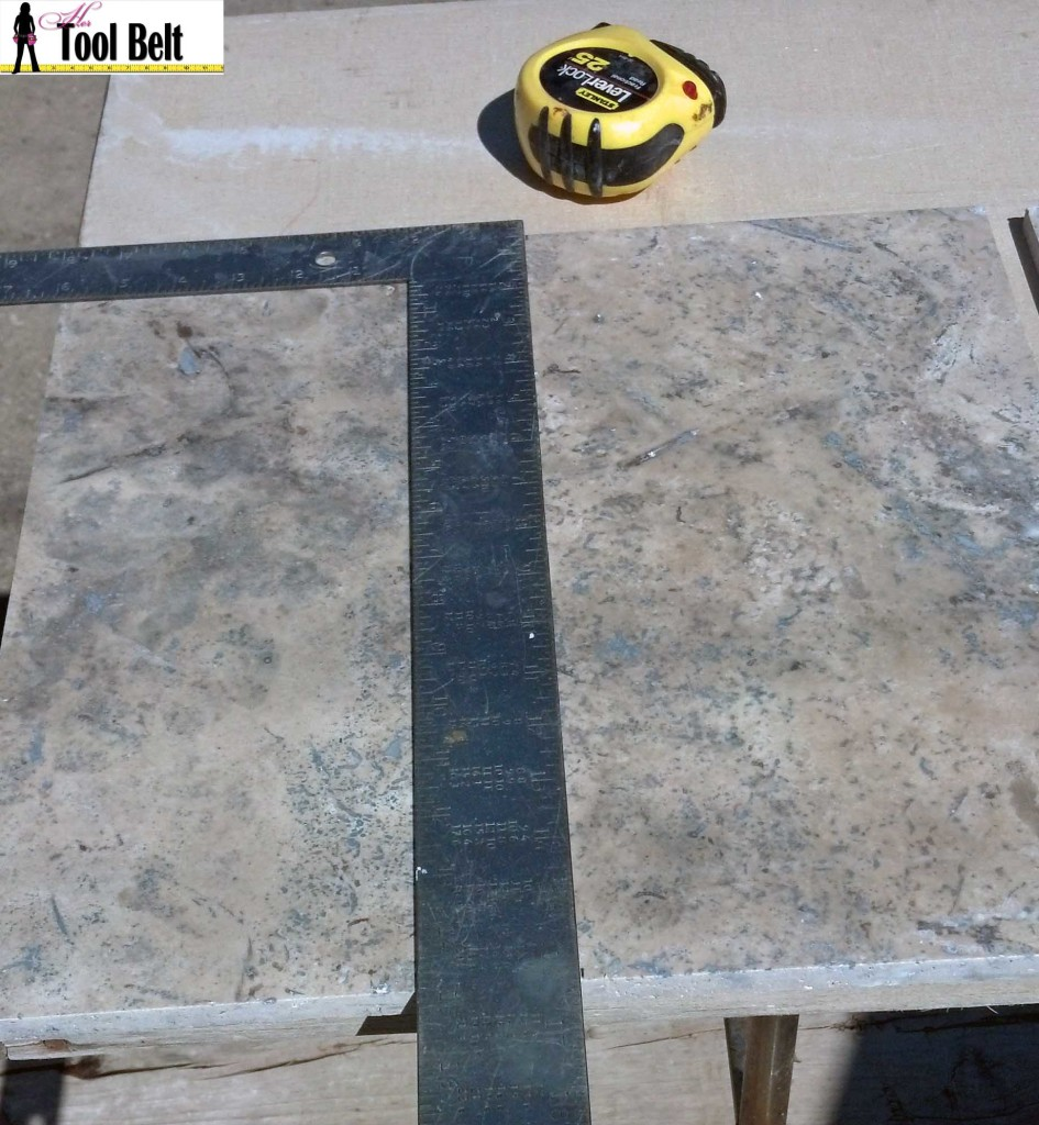 mark tiles for half cut