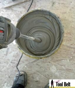 mix thinset morter