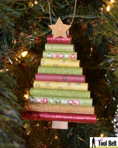 rolled paper christmas tree ornament1