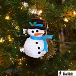 5th Day of Christmas – Stacked Felt Snowman Ornament