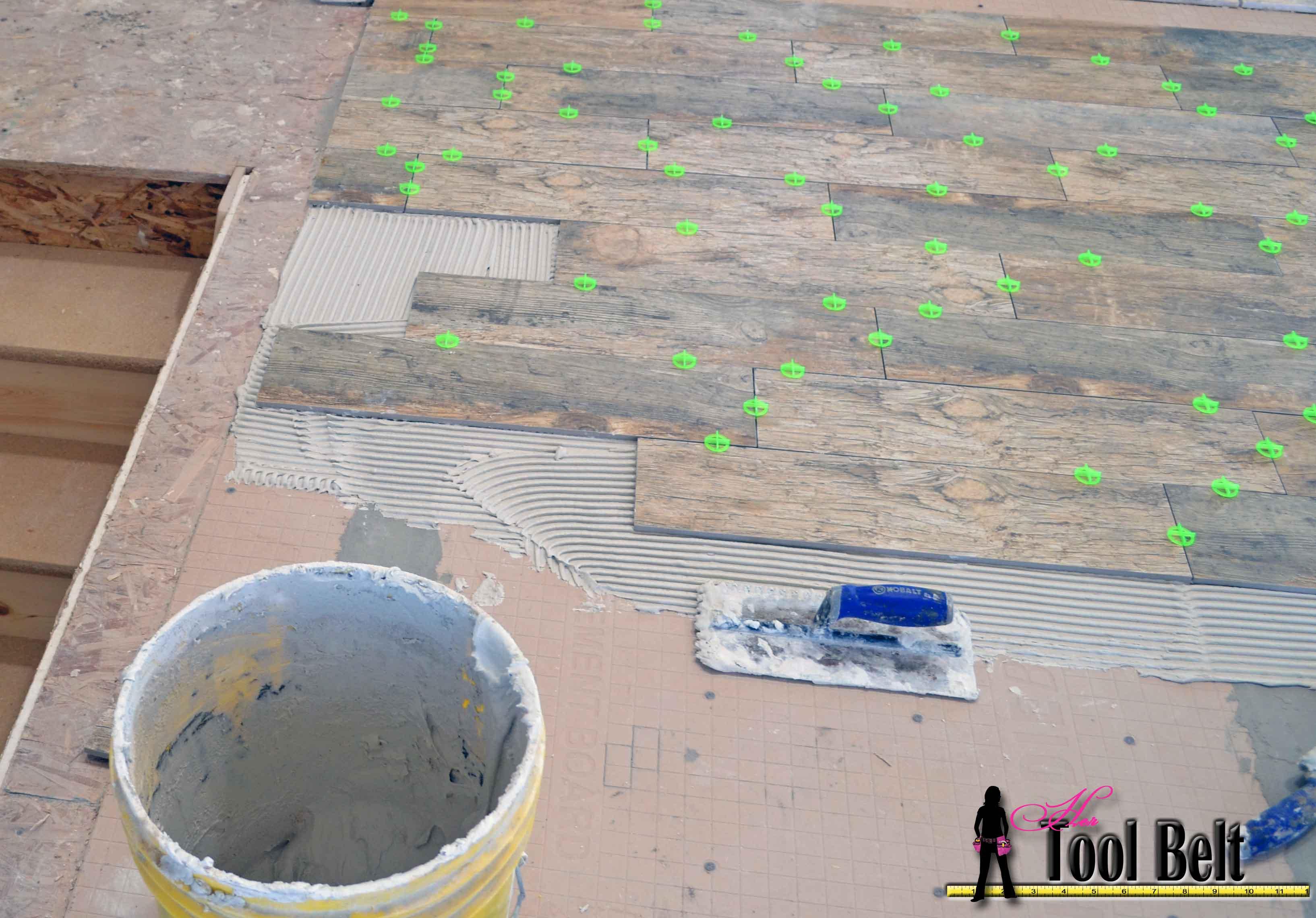 How to install Wood Tile (barnwood) - Her Tool Belt