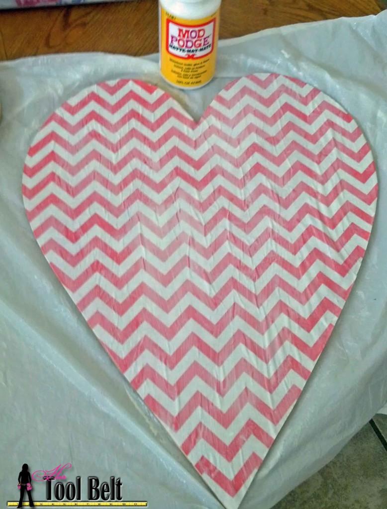 door heart - top coat of mod podge