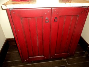 Red Home Show Cabinet