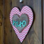 Valentines Heart Door Decoration – free pattern