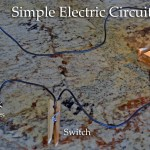 How to make a simple electrical circuit with stuff from around the house.