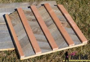 back of herringbone backboard