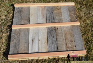back of rustic plank photo backdrop