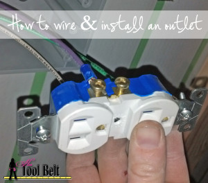 how to wire and install an outlet plug