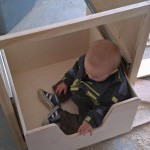 trying out the toy box drawers