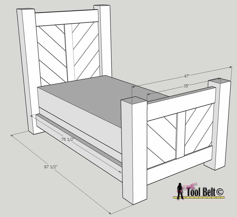 barnwood bed free DIY plans