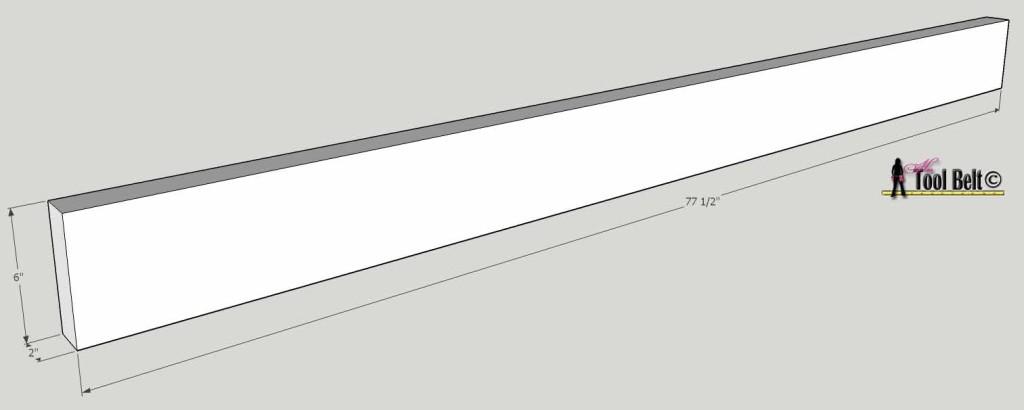 barnwood bed long rail