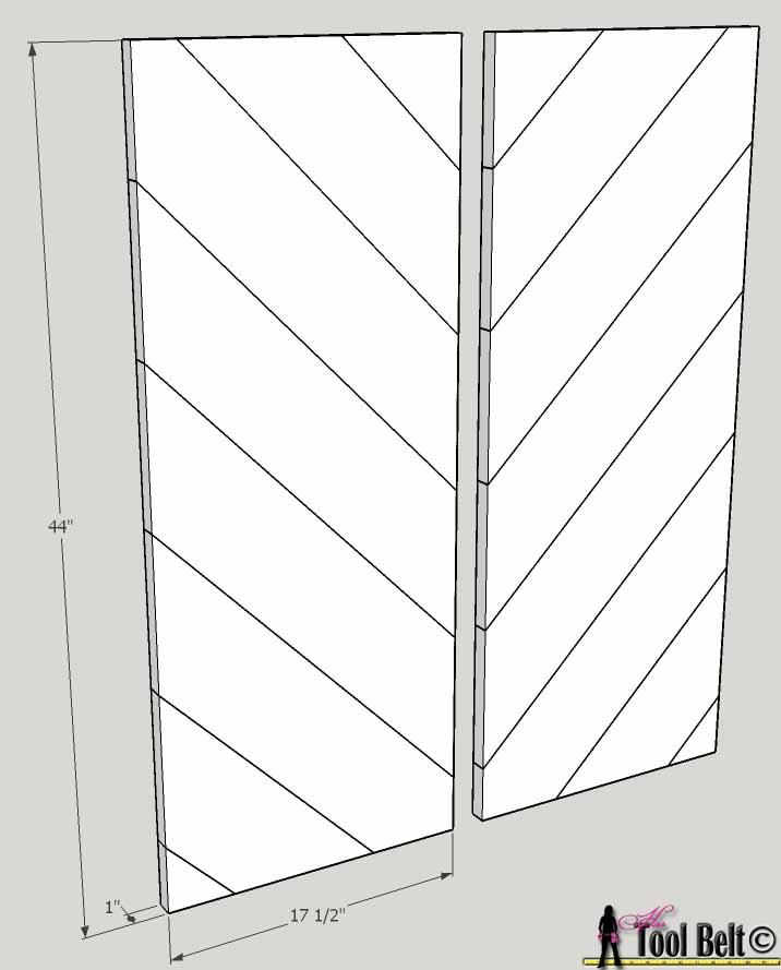 barnwood bed tall diagonal panels