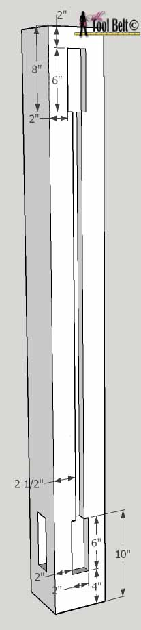 barnwood bed tall post dado