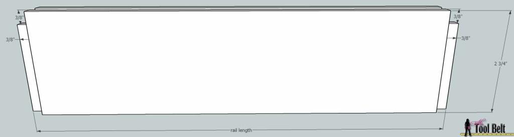 door rail length