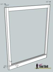 media center cabinet face frame back dado