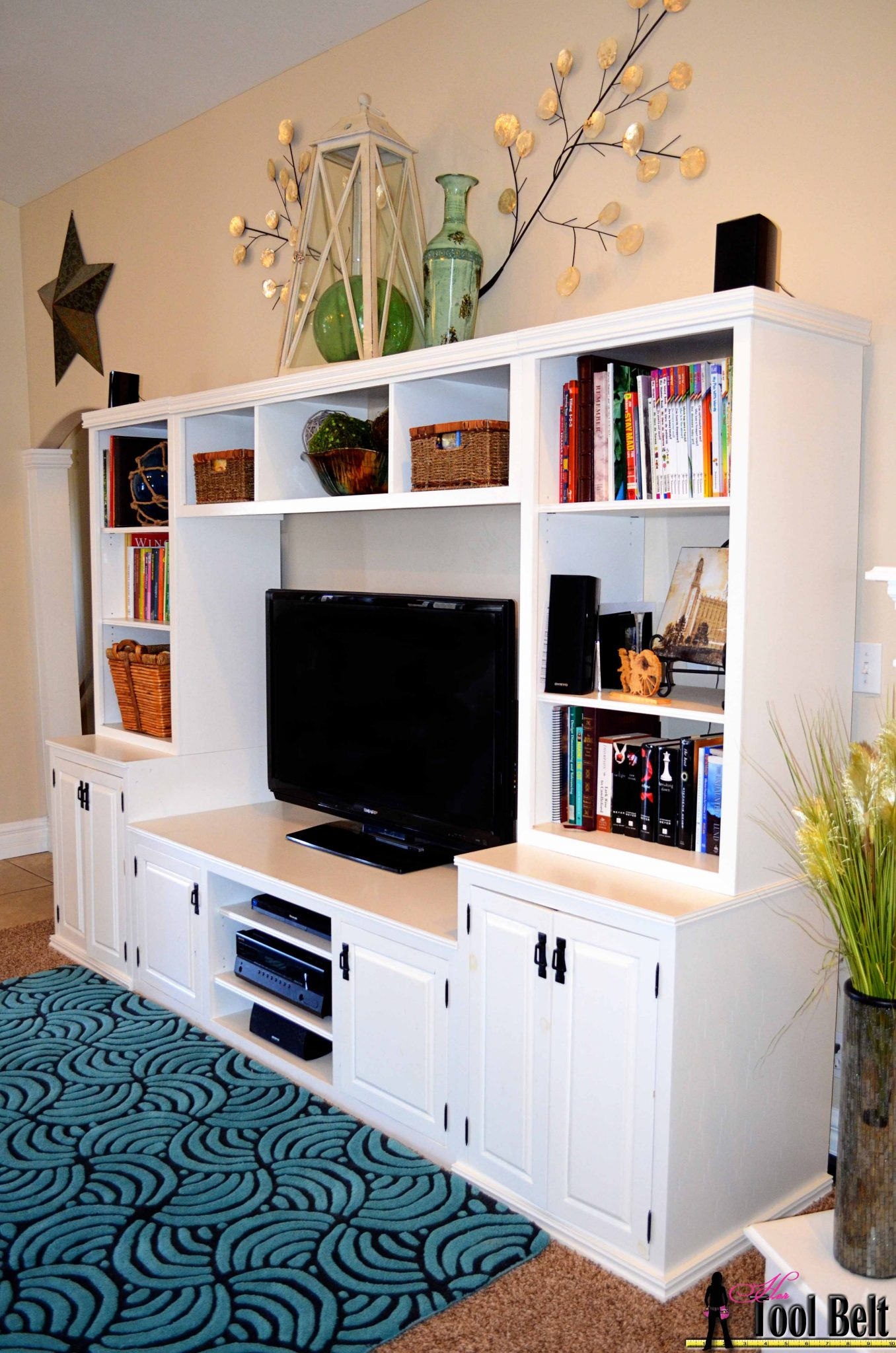 entertainment center pb media center plan bridge her tool belt. Black Bedroom Furniture Sets. Home Design Ideas
