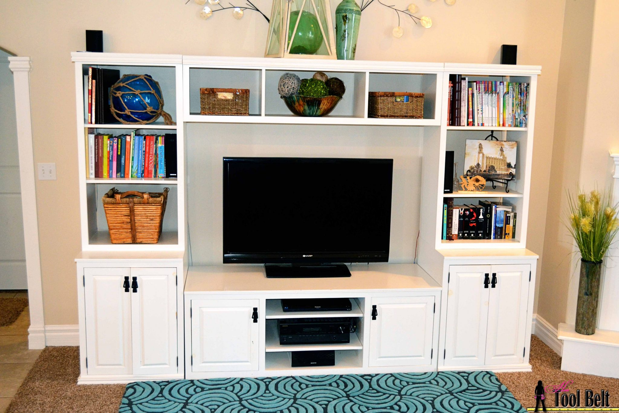 media center free plans - Media Center With Bookshelves