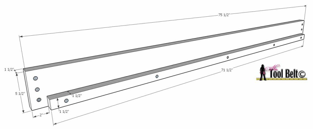 chevron twin bed plan bed rail and support