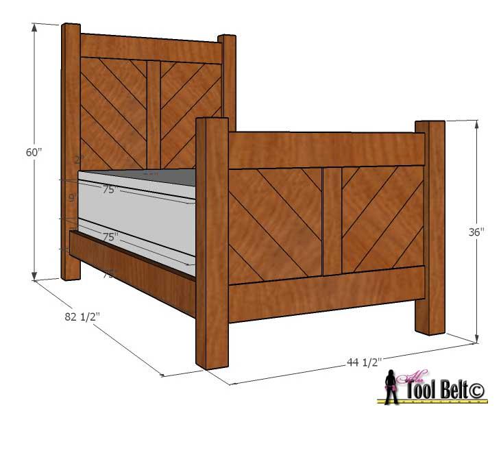 chevron bed overall dimensions