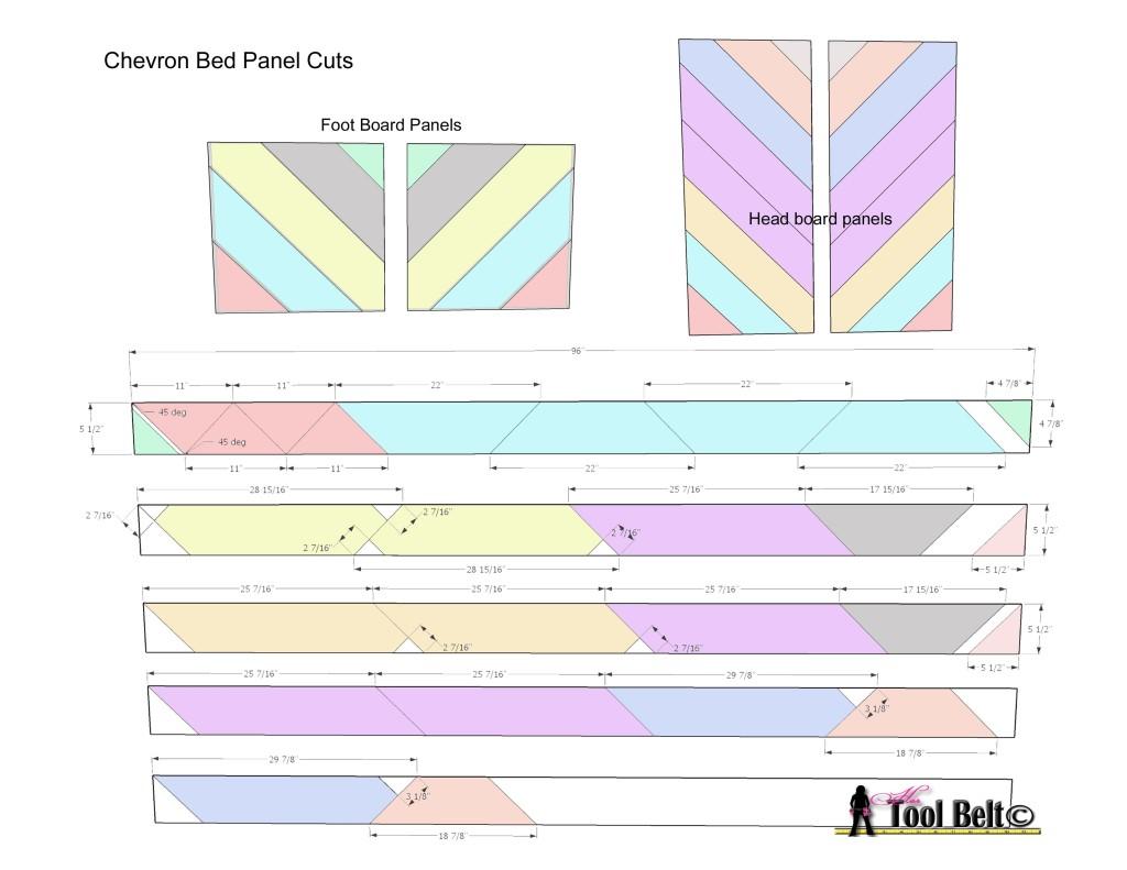 chevron bed panel cuts