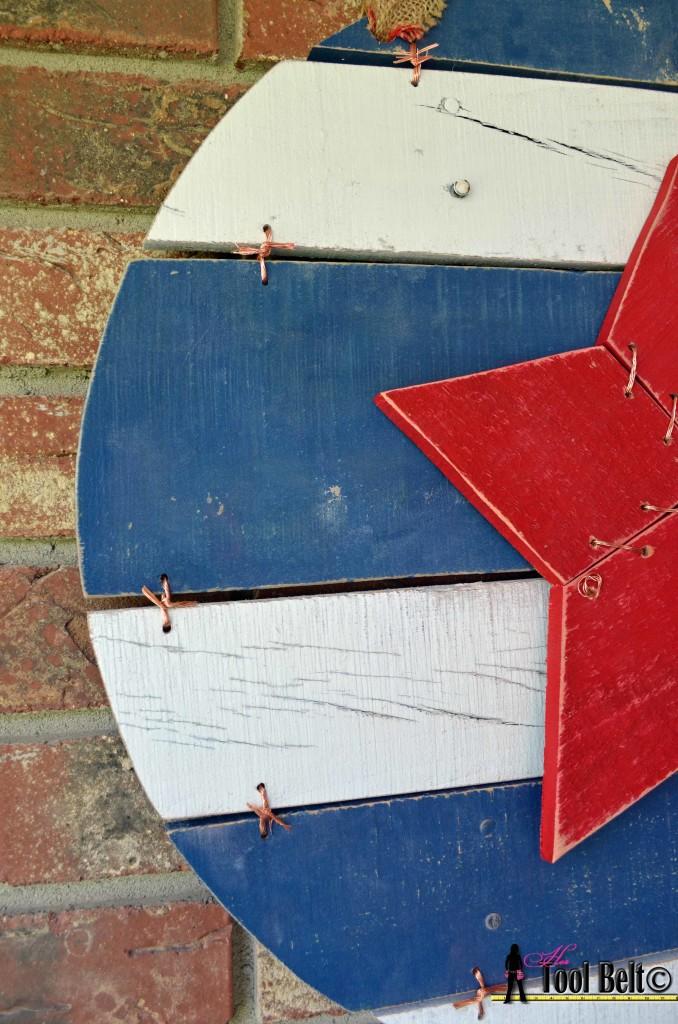 Memorial Star drill holes