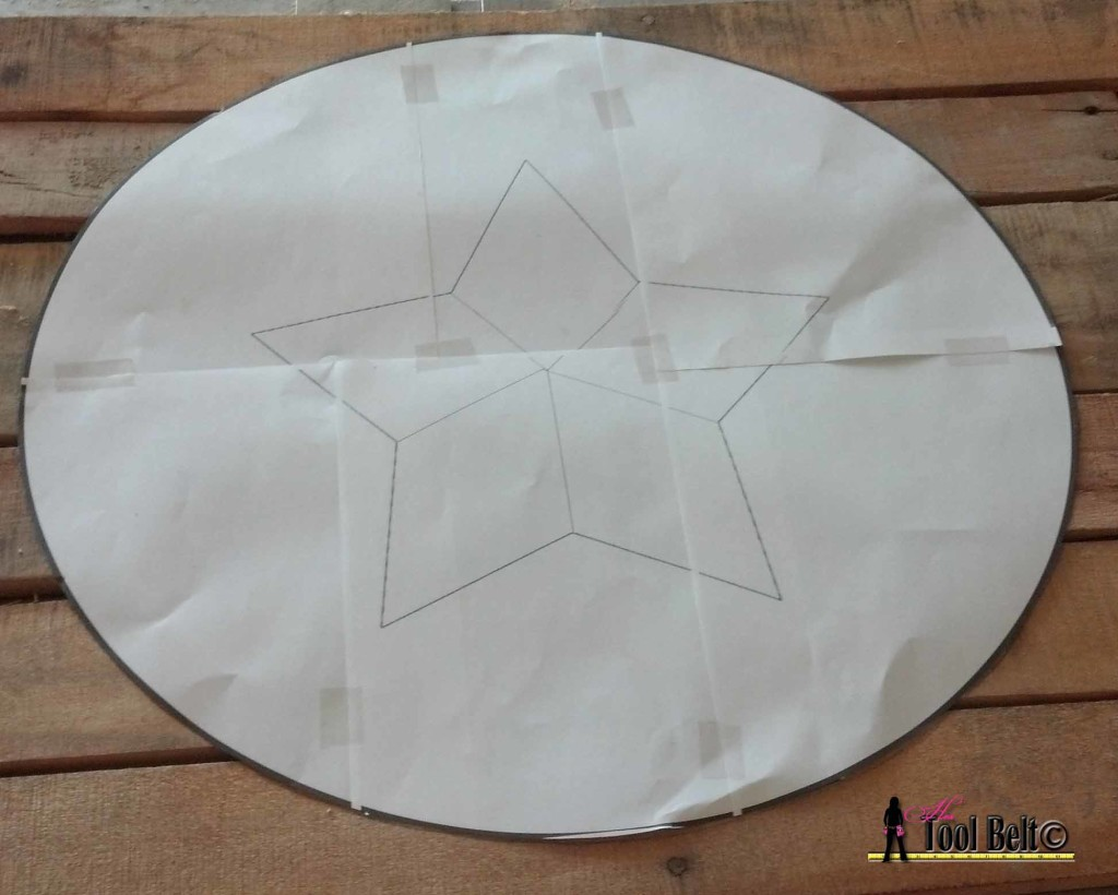 memorial day star layout pattern