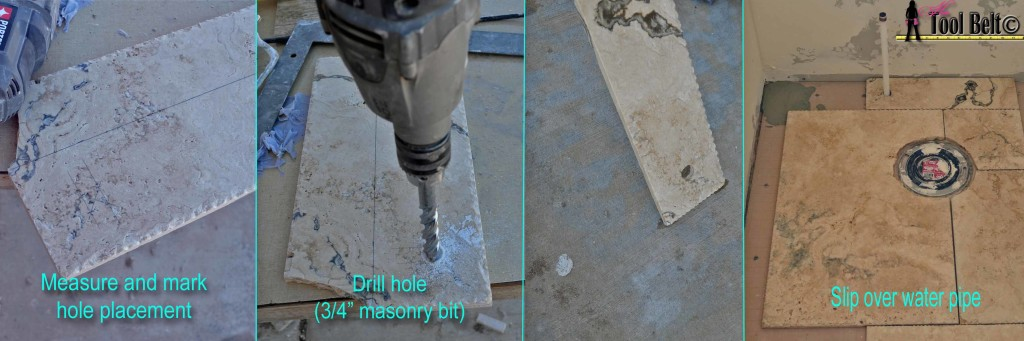 drill a hole for water pipe