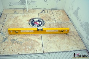 lay tile and level