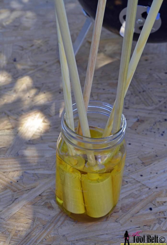 Woof-em soak stick in cooking oil