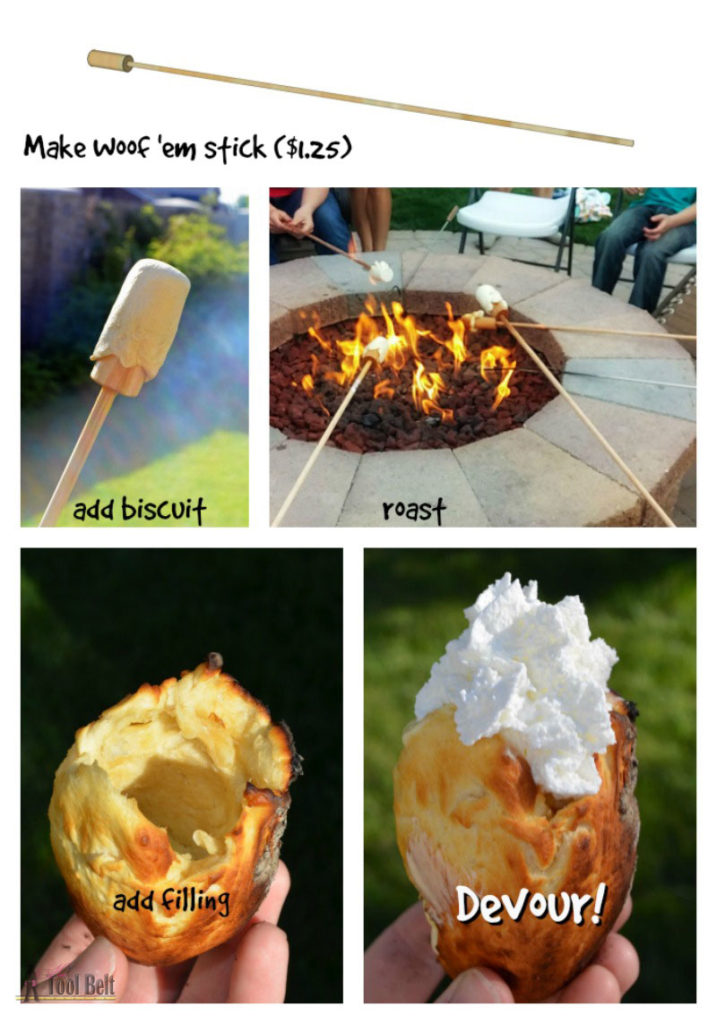 Move over S'more, these Woof'ems are our new favorite campfire treat. Check out the yummy Woof'em recipes and super easy stick tutorial.