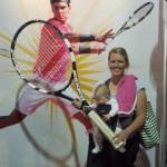 gigantic tennis racket