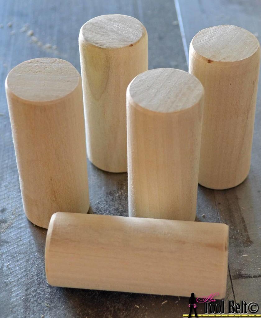 woof-em sand dowel pieces