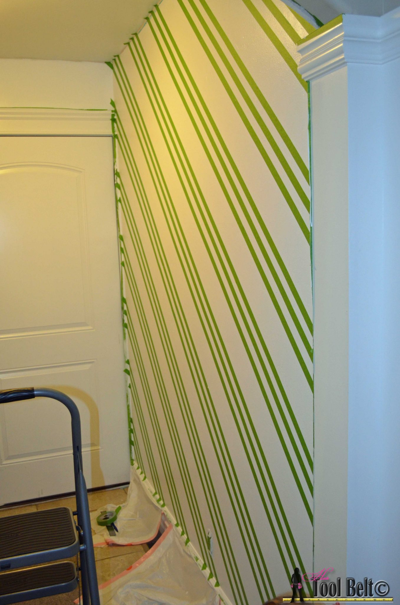 Geometric Wall - Taping it Modern - Her Tool Belt