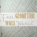Geometric Wall – Taping it Modern