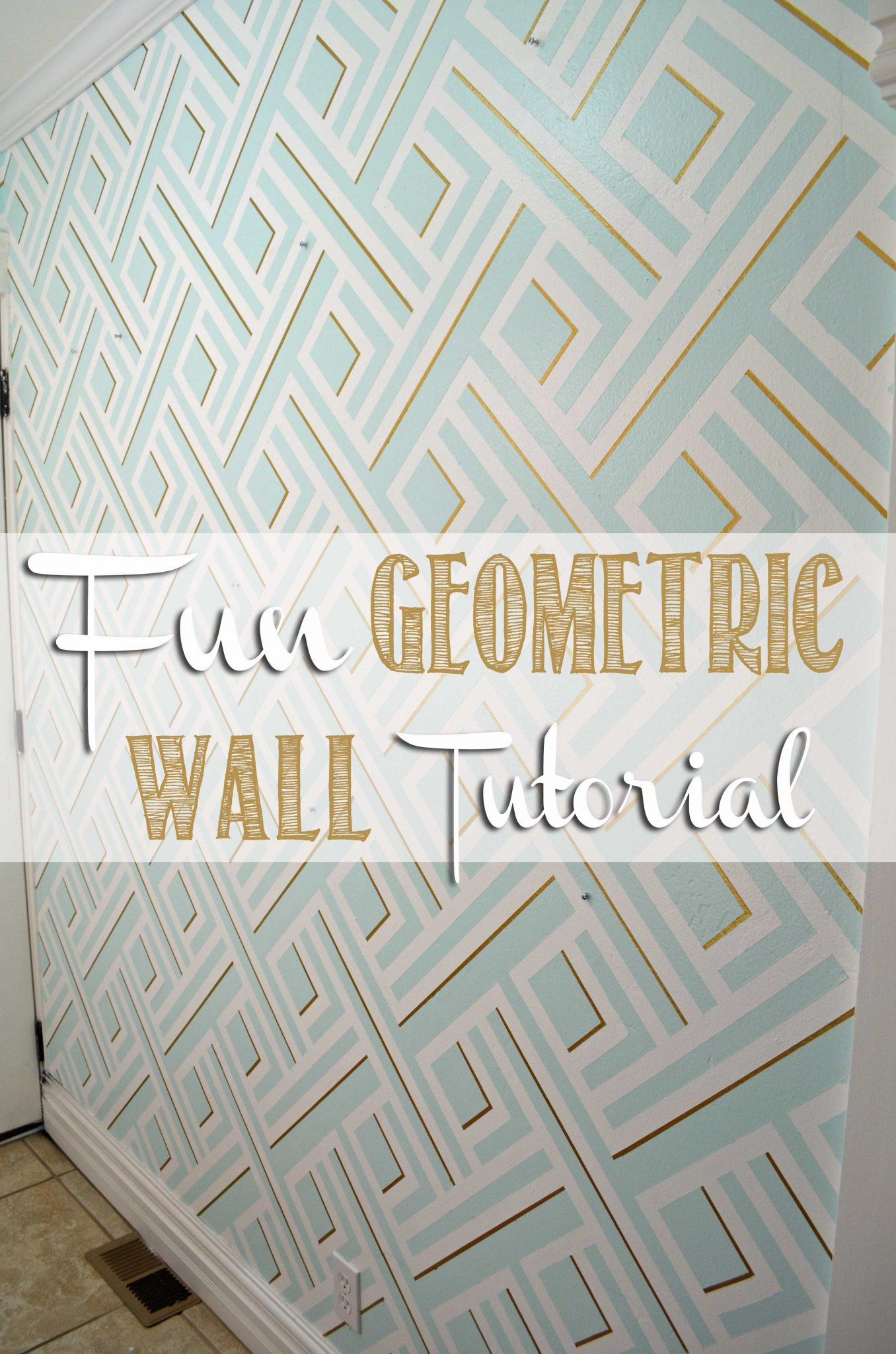 Fun Geometric Wall Tutorial on hertoolbelt.com Seriously this design was  made with paint and