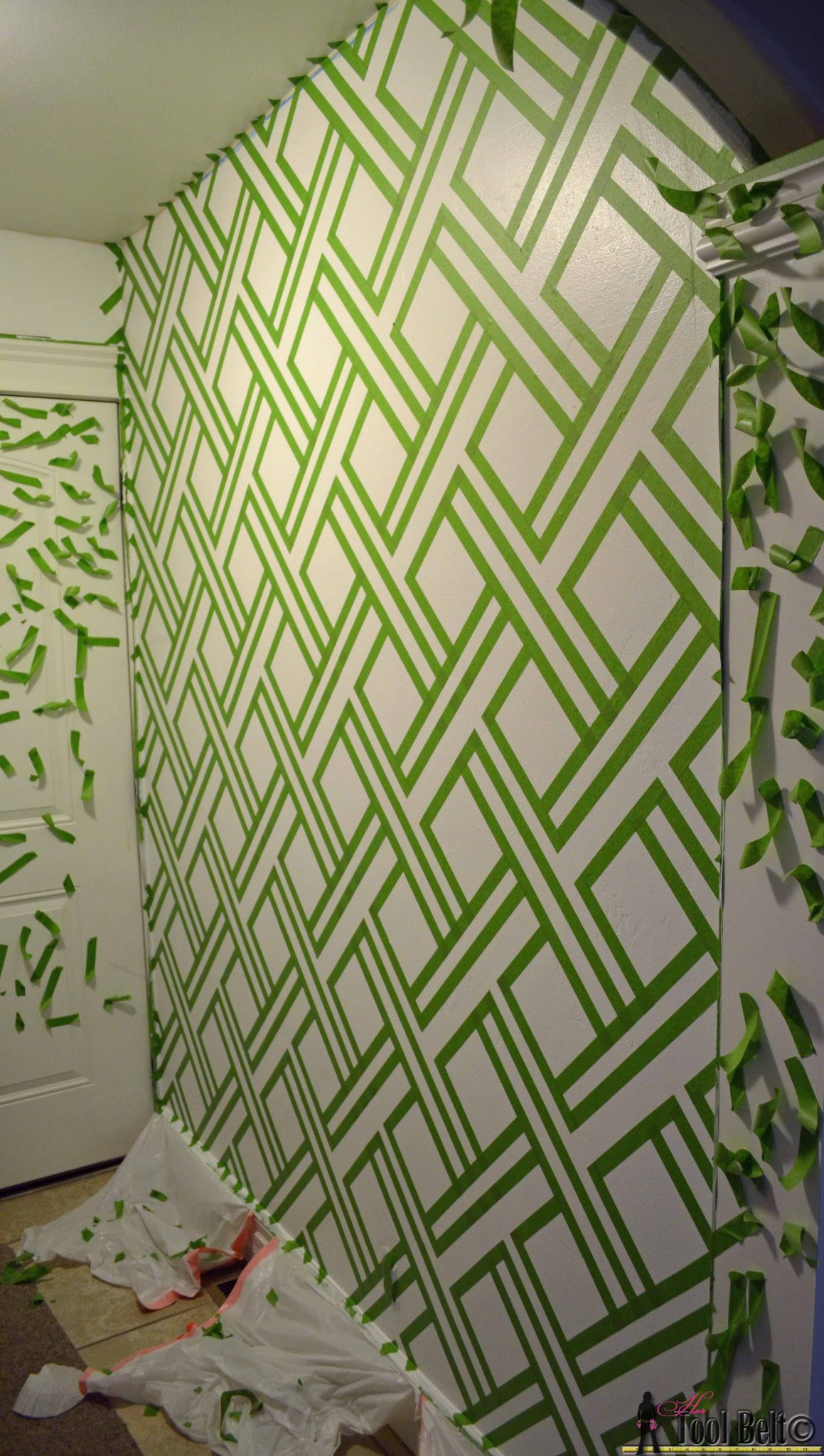 Geometric Wall Taping It Modern Her Tool Belt