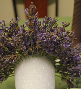 Lavender tower - continue adding sprigs